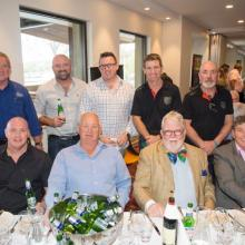 Beverage Sponsor Jason Britton (CUB) 2 in from top left at the Sportsmans Luncheon 5/9/2014