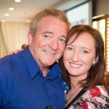 Talle SLSC Manager Peter LeGros (Frog) and Sharlene Hall (RSL) at the luncheon 5/9/2014