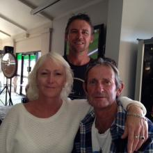Vicki, Rick and Tony having a win on the gee gee's at the TAB. Saturday 20th 2014