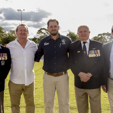 Alleygator's President, Ken Jarvis acknowledges Currumbin Palm Beach RSL