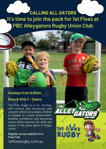 1st fives rugby at Alleyagtors rugby club